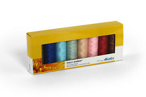 Mettler-Poly-Sheen-100-Polyester-Kids-8-Pack-Sewing-Thread-Embroidery-Crafts