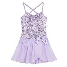 Girls Ballet Dance Dress Leotard Sequined Tutu Skirt Party Dancewear Costume 5-6