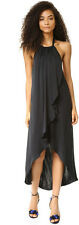 NWT ELLA MOSS Dress Seti Halter Medium M $248 Black Cupro Beach Casual Cocktail