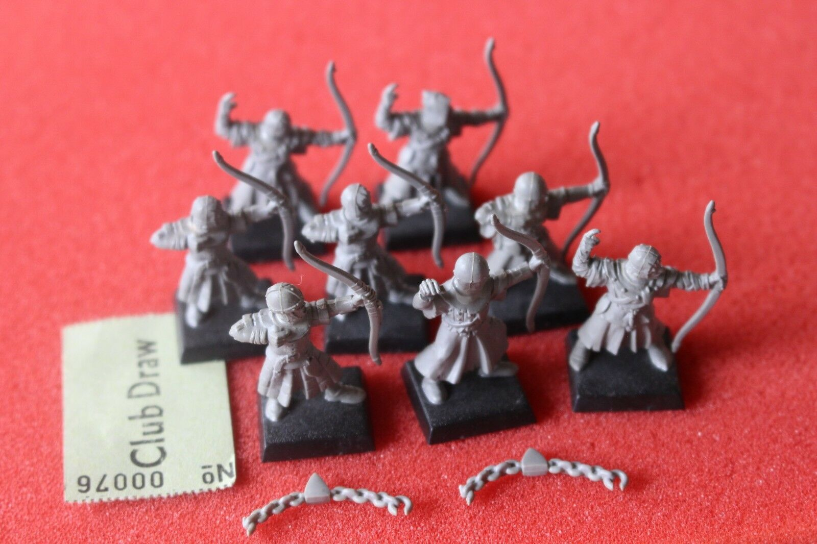 Games Workshop Warhammer Bretonnian Peasant Archers x8 Assembled Bowmen OOP GW