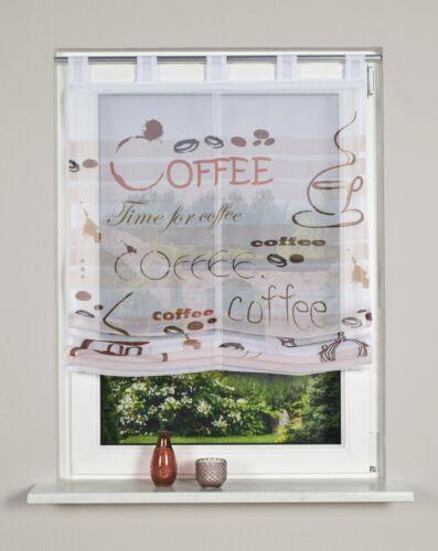 80 100,120 cm Raffrollo Digitaldruck transparent Coffee braun  Breite:60