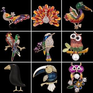 231528889 Image is loading Wholesale-Vintage-Crystal-Rhinestone-Peacock-Animals-Brooch -Pin-