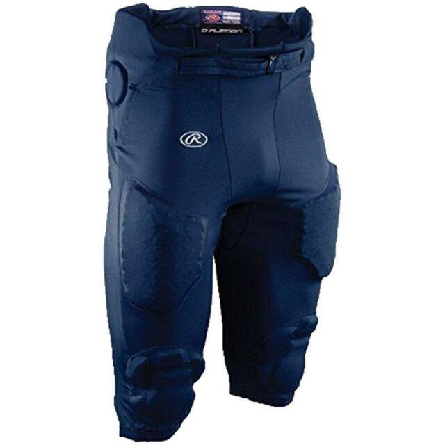 Rawlings D-Flexion Integrated Football Pants yf25p Black Youth Medium