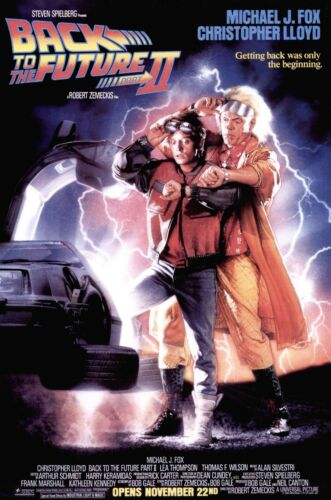 Back to the Future 1989 Classic Movie Poster Print A0-A1-A2-A3-A4-A5-A6-MAXI 395