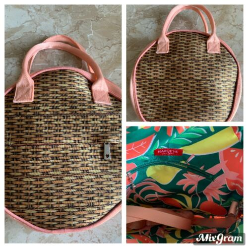 Harveys Seatbelt Wicker Print Circle Bag