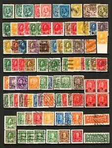 Canada #89 / #230 1903-1935 Assorted King Edward VII, George V with Coils M&U