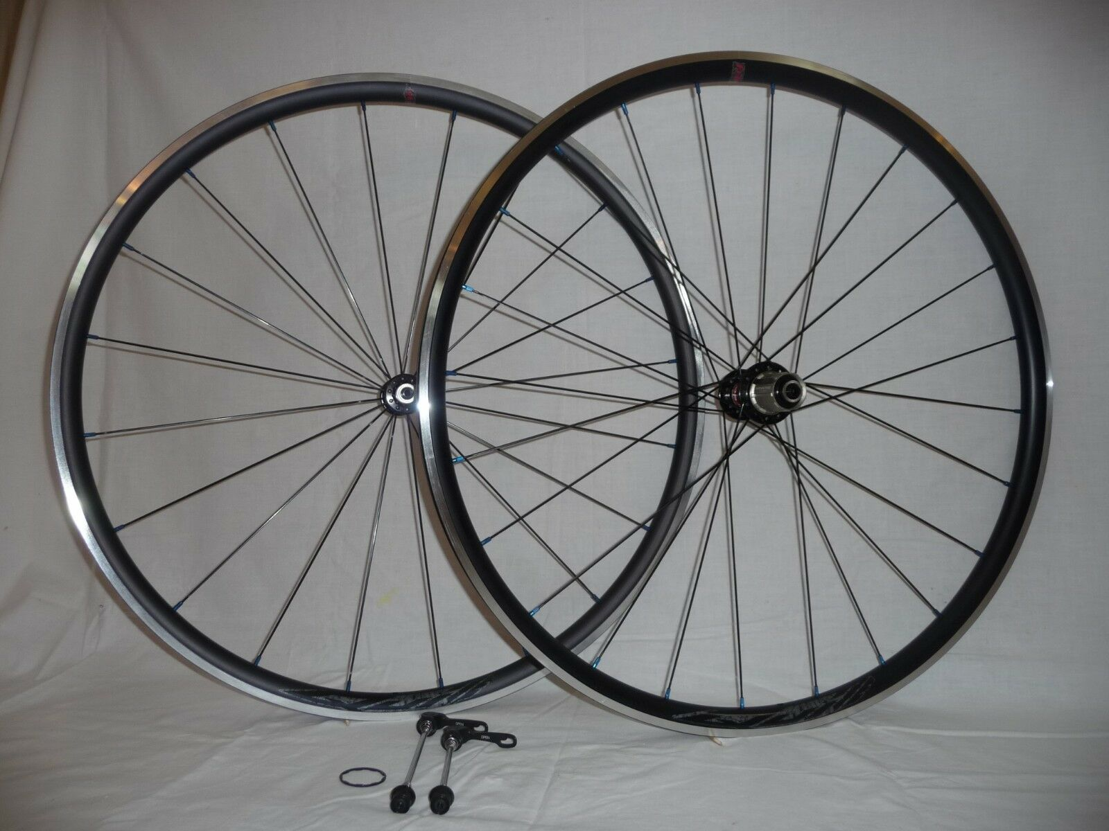 Velocity Quill wheels with Novatec hubs for road, race, or sportives.