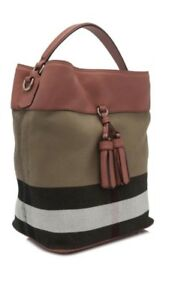7e40000b40 Image is loading NEW-BURBERRY-Brit-Grainy-Canvas-Check-Medium-Ashby-
