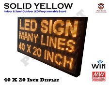 40 X 20 Inch Led Yellow Wifi Indoor Semi Outdoor Programmable Scrolling Sign