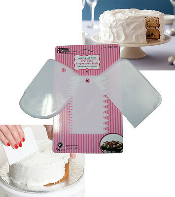 Cake Icing Spreader Shaper Pastry Decorating Scraping Fondant Shaping Edger Edge