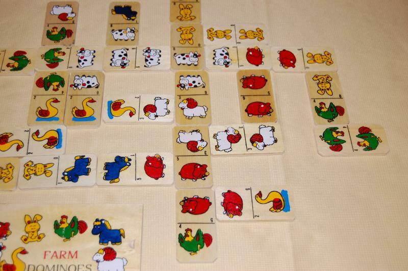 Agathan's Wooden Toys Netherlands Farm Farm Farm Dominoes Domino 28 pieces in Box 10d0d4
