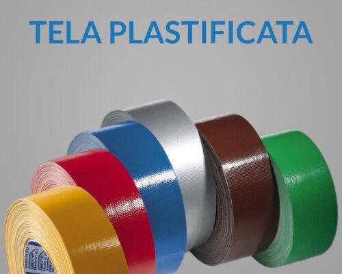 Nastro Americano telato colorato plastificato per riparazioni EXTRA FORTE  38mm