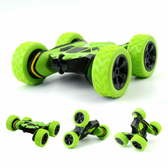 Kids Stunt Racing RC Car Remote Control Truck Double Sided Rolling Tumbling Toys
