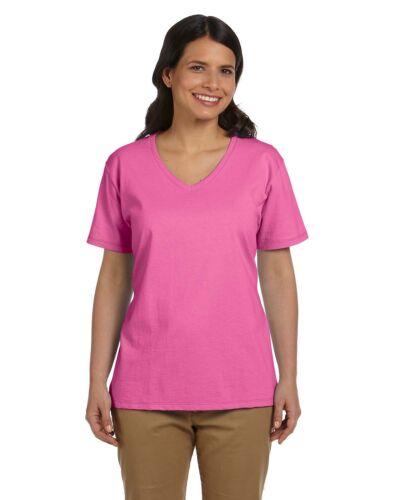 Hanes Womens Tagless V Neck T Shirt Comfort soft cotton Vneck Tee S-3XL 5780