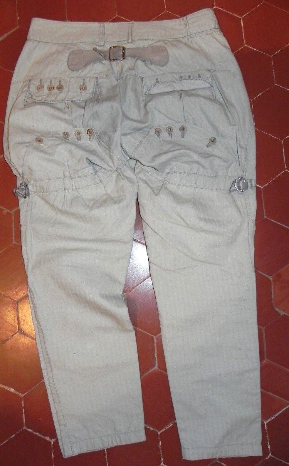Superbe pantalon MARITHE FRANCOIS GIRBAUD Trousers pant Größe 38 F Valeur 379E
