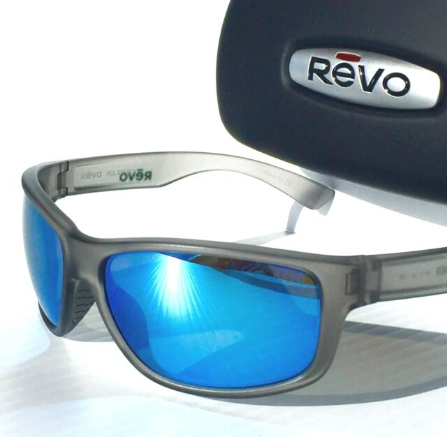 928442fed2 REVO Baseliner Matte GREY POLARIZED Blue Water ANGLER Sunglass 1006 00 BL