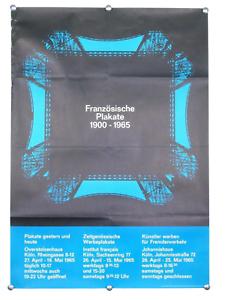 """Ausstellungs Plakat """"Französische Plakate"""" Köln 1965 60er Jahre Vintage, alt"""