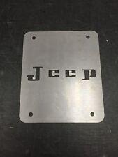 Jeep Wrangler TJ Tailgate Spare Tire Delete Plate 1997-2006 Retro Jeep Plate