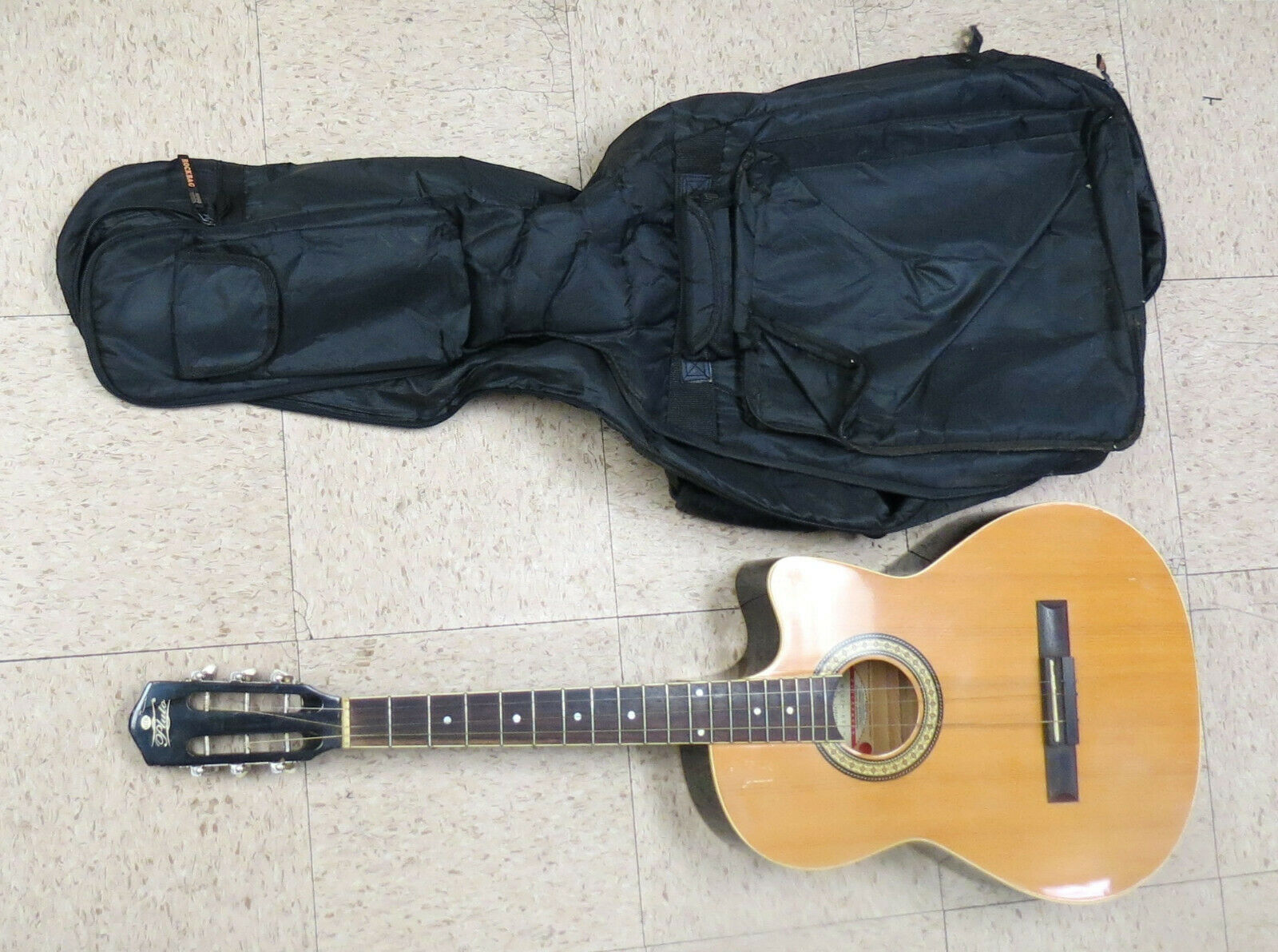 Pluto Guitar Acoustic HW39C-201N with gig bag for sale
