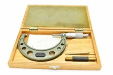 Mitutoyo 103 218 3 4 Ratchet Thimble Micrometer With Case 0001 Japan