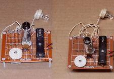2 PCS = Low-Cost Science Fair VACUUM TUBE vintage AM radio receiver UNBUILT kit