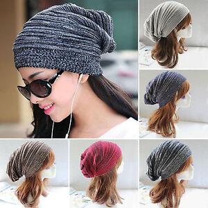 1b771ff7e64 NEW Unisex Womens Mens Knit Baggy Beanie Beret Hat Winter Warm ...