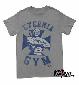 MASTERS OF THE UNIVERSE HEMAN BLINK IF YOU WANT ME T-SHIRT MENS GREY
