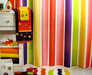 Image Is Loading FABRIC Little Miss Matched Super Stripe Bright Colors