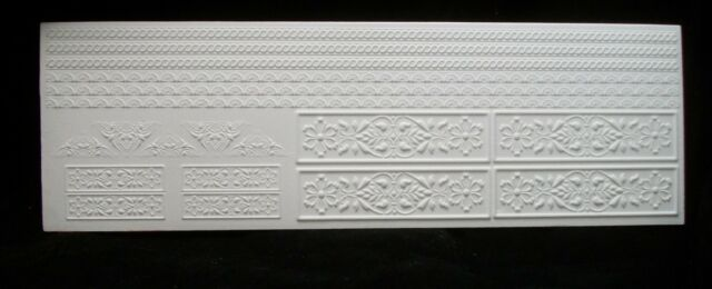 Wall Deco Panels Sheet 34930 dollhouse miniature 1pc World /& Model faux plaster