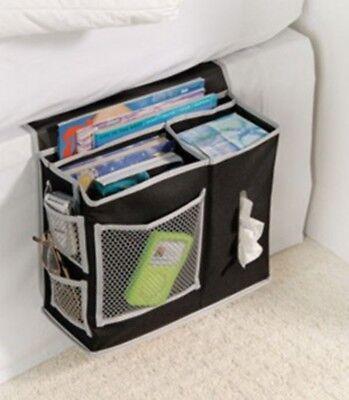 6 Pocket Bedside Storage Caddy Bedroom Mattress Bed Size Organizer TV Remote