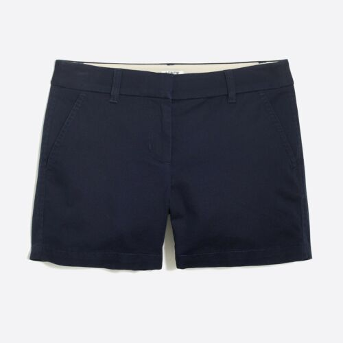 NEW J Crew Womens City Fit Chino Cotton Shorts Khaki Tan Navy Blue 2 XS 4 S 8 M