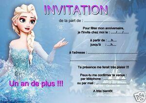 5 ou 12 cartes invitation anniversaire reine des neiges rf 12 ebay 5 ou 12 cartes invitation anniversaire reine des stopboris Images