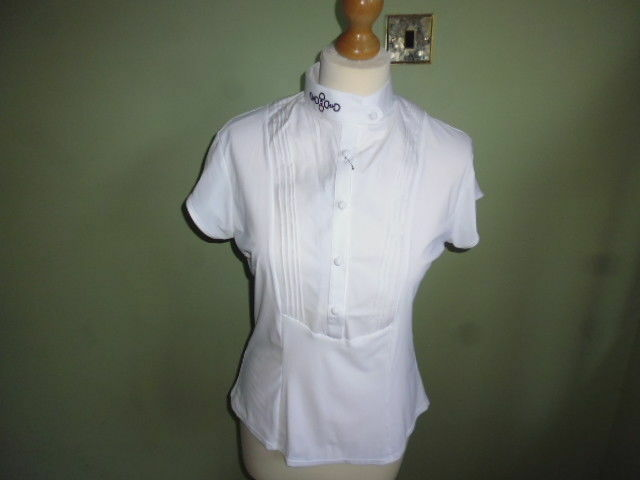 Cavalleria Toscana Bib Short Sleeve Ladies Competition Show Shirt white L