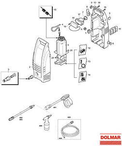 ersatzteile f r dolmar hp 10 hochdruckreiniger ebay. Black Bedroom Furniture Sets. Home Design Ideas
