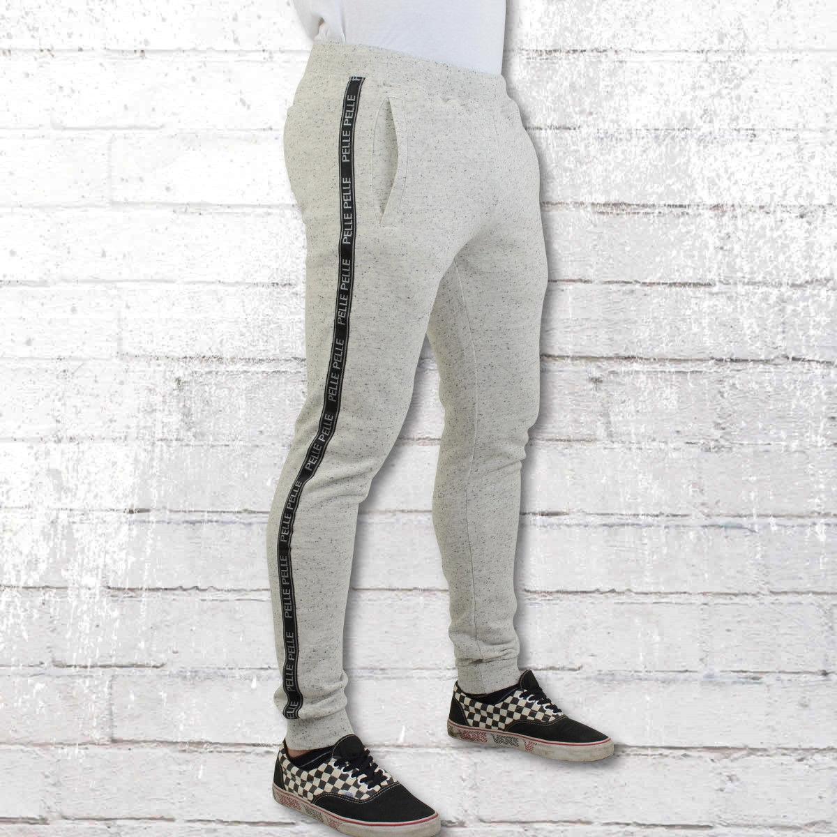 Pelle Pelle Slim Jogging Pantaloni Grigio Tapemasters traningshose SWEAT SWEAT SWEAT PANT UOMO ASH b1653c