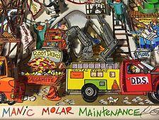 """Fazzino: Original signiertes 3D """"MANIC MOLAR MAINTENANCE"""", Deluxe, + RIZZI Pin"""
