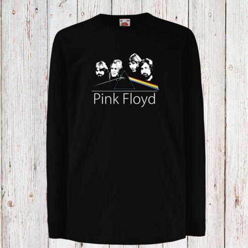 Kid//Bambini//Teenage Pink Floyd 1 Progressive Rock Black T-shirt Lungo//manica corta