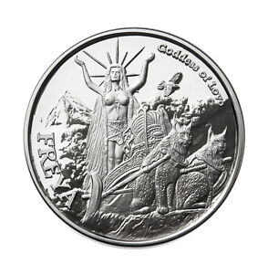 1 Oz Silver Coin Freya Valkyrie Norse God Series 4 In