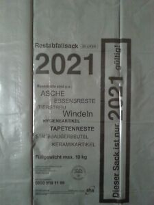 10 aha-Restabfallsäcke 2021 Abfallsäcke Restmüllsäcke Müllsäcke