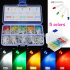 500Pcs 3mm Round Top LED Colorful Light Bulb DIY Set Car Decorations with Case