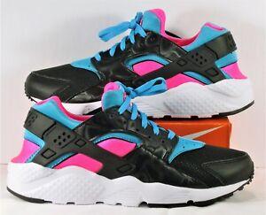 441064a3646 Nike Air Huarache Run Black White & Pink Running Women 8 Sz 6.5Y NEW ...