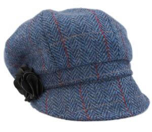 1c5b3d022b8 Image is loading Womens-Newsboy-Cap-100-Wool-Irish-Made