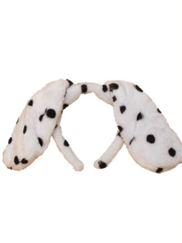 Dalmatian Spotty Dog Floppy Ears Alice Hair Band Headband Fancy Dress Party Hen
