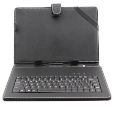 10, 10.1 Inch Android  Tablet Pc Black Leather Keyboard Case Stand Micro USB UK
