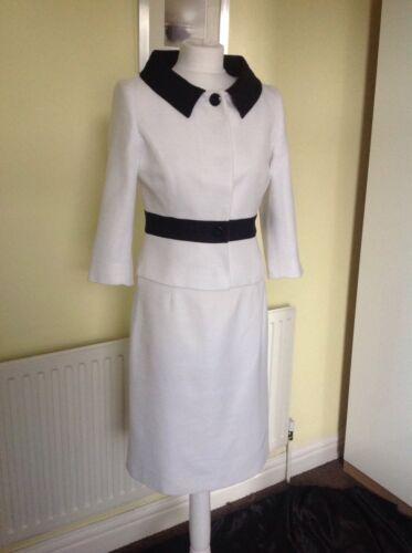 bianco da Bellissimo £ vestito Hobbs 00 Uk10 da 400 archer Rrp arat6wqEx
