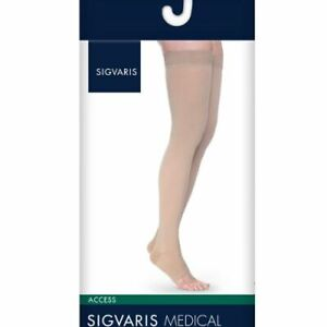 93b62ab63b Image is loading Sigvaris-Access-Thigh-High-Open-Toe-20-30mmHg-