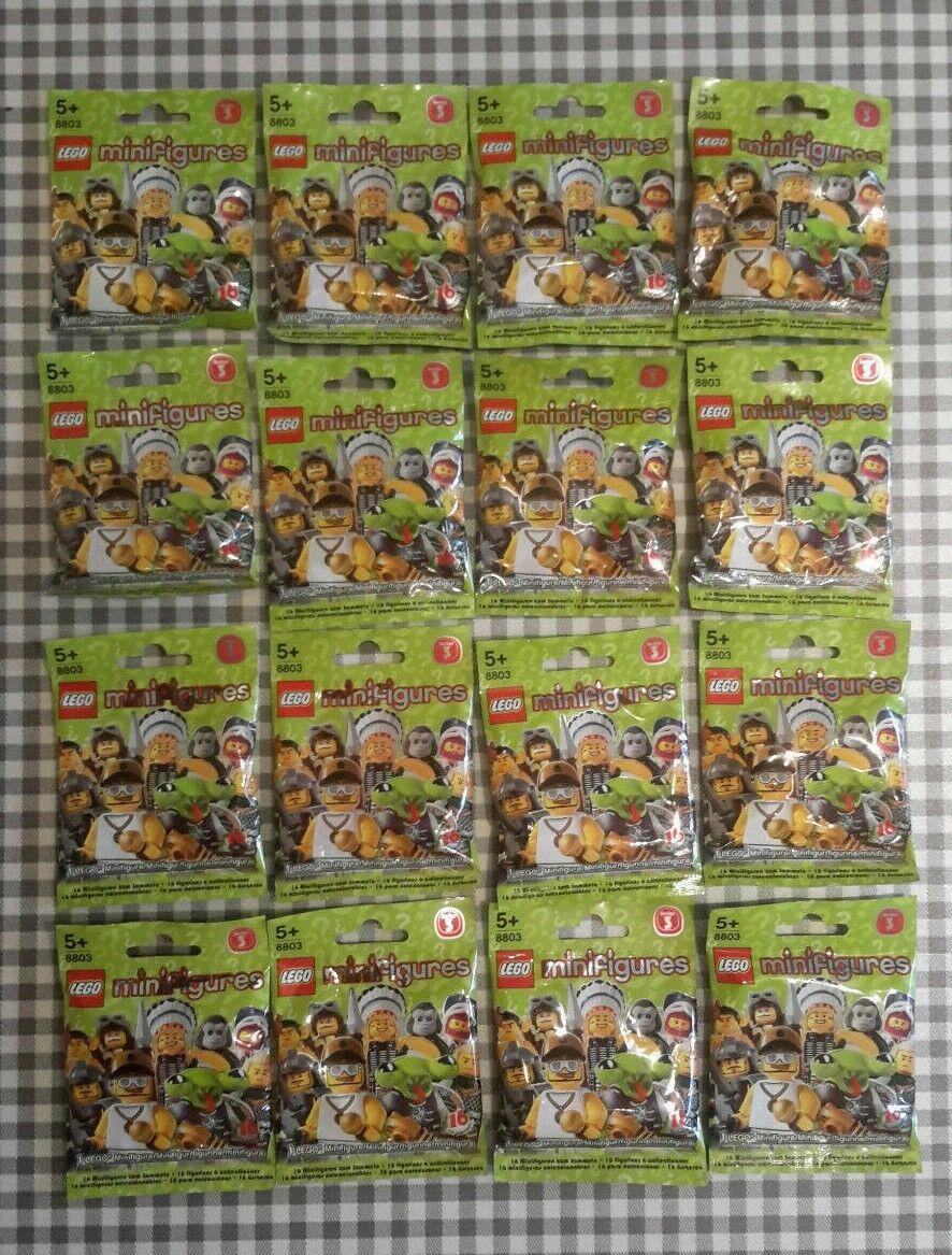 Lego, mini Muppet Series 3, todas sin abrir, 16 nuevas fábricas selladas.