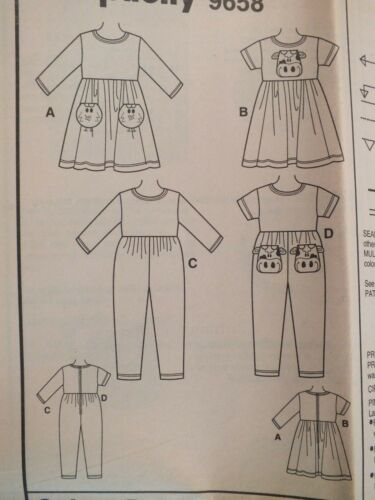 Easy OOP SIMPLICITY 9658 Tdlrs//Girls Dress /& Jumpsuit PATTERN 2-3-4//5-6-6X UC