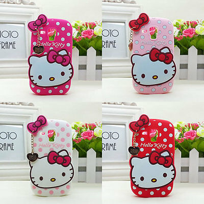 HelloKitty Cat Cartoon Soft Silicone Case Cover For Samsung Galaxy S3 Mini i8190