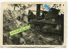 Foto: Deut. Panzer / Panzerjäger mit Wappen und Russen-Schaschka im 2.WK